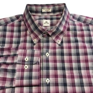 Peter Millar Shirt Button Front Multicolored Plaid